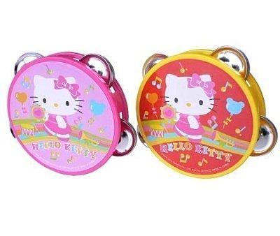 【真愛日本】11022300025  鈴鼓玩具-兩色 三麗鷗 Hello Kitty 凱蒂貓 初學玩具 兒童玩具 正品