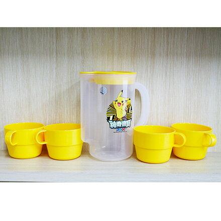 [敵富朗超市]神奇寶貝皮卡丘一壺4杯組 0