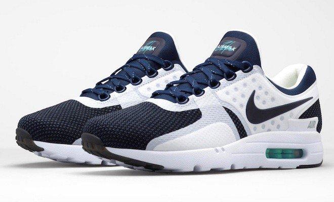 眾星代言 Nike Air Max Zero 深藍白 氣墊跑步鞋 男女鞋