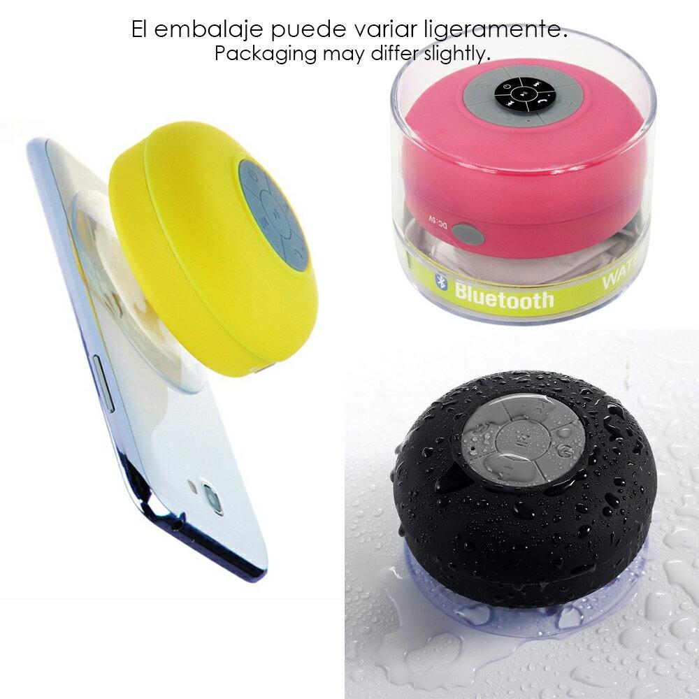 Altavoz Acuático Azul Celeste Waterproof con Ventosa, Bluetooth y Manos Libres 7