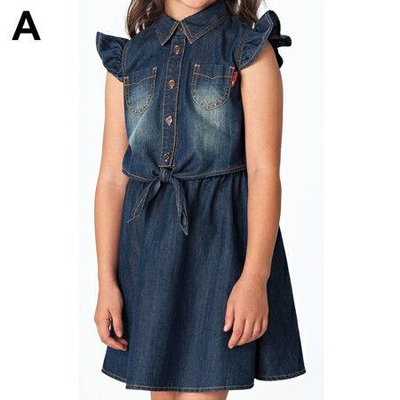 ~這裡 ~不用等^! ^~ 空運 nissen ^~~輕量級牛仔洋裝連身裙,時髦剪裁,夏天