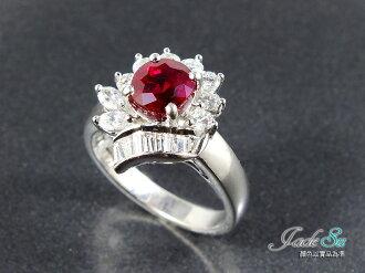 Jade Su Jewelry天然紅寶石鑽戒\頂級鴿血紅1.50克拉\鑲嵌天然南非鑽石\圓形0.28克拉\馬眼形0.18克拉\梯形0.25克拉\18白K金戒台\附台灣中國寶石鑑定書