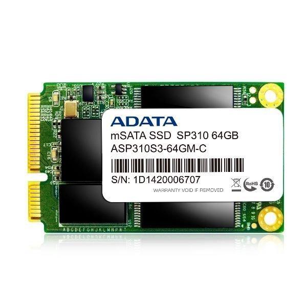 *╯新風尚潮流╭*威剛 SP310 64G mSATA SSD固態硬碟 支援智慧型回應 三年保固 ASP310S3-64GM-C