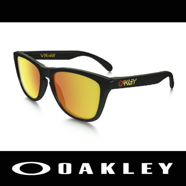 萬特戶外運動-美國 OAKLEY 太陽眼鏡 FROGSKIN系列  ROSSI款 VR46 24-325