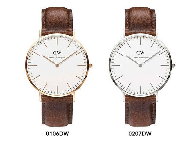 瑞典正品代購 Daniel Wellington 0106DW 玫瑰金 真皮 錶帶 男女錶 手錶腕錶 40MM 2
