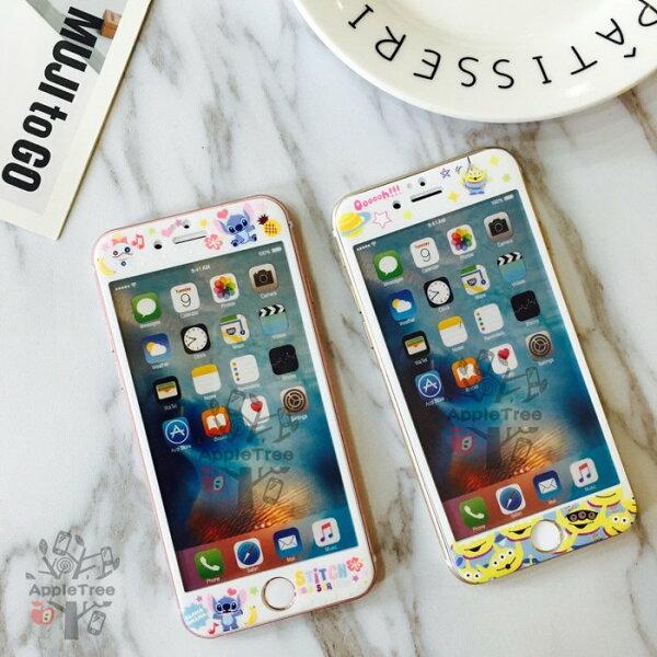 麵包超人 史迪奇 三眼怪 卡通 玻璃膜 iPhone6/6S PLUS 軟玻璃 碳纖維 卡通玻璃