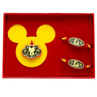 迪士尼金飾-吉祥美妮-彌月金飾禮盒 (0.20錢)