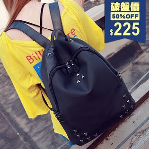 個性鉚釘牛津布後背包 包飾衣院 P1763 現貨+預購