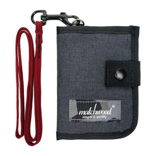 REMATCH - Matchwood Element 多功能零錢包 礦石灰紅款 頸掛包 鑰匙包 信用卡夾 證件套 悠遊卡套 錢包 卡夾 STUSSY / Herschel / master-piece / HEADPORTER 可參考