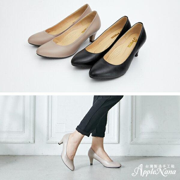 AppleNana。人人必備完美鞋楦絕對好穿羊皮尖頭高跟鞋【QC1301380】蘋果奈奈 2