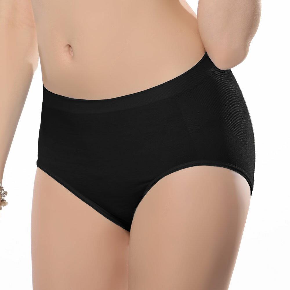 【Emon】《竹炭.無縫》一體成型中高腰三角褲 0