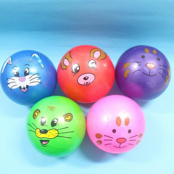 珠光卡通球 安全球 兒童玩具球 橡膠球 充氣球(印圖)直徑約20cm/一個入{定60}