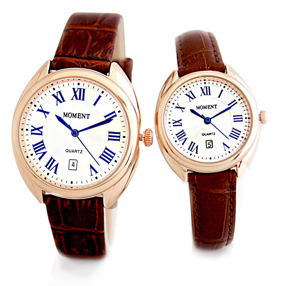 MOMENT 8093 羅馬風情簡約時刻設計皮帶錶 1