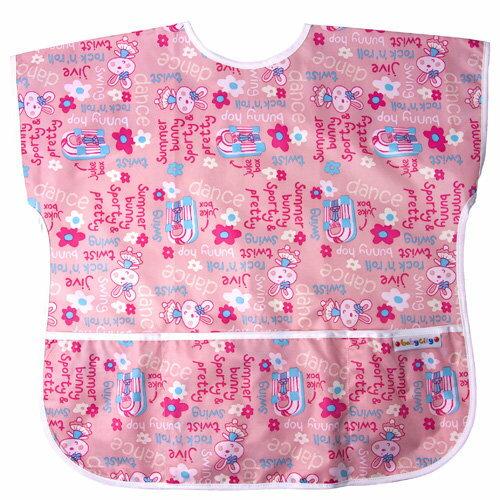 Baby City娃娃城 - 防水短袖畫畫衣(3-5A) 粉色兔子 1