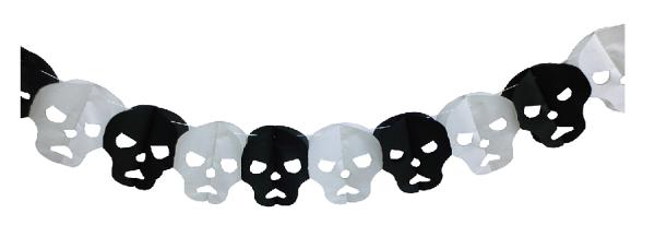 X射線【W405235】骷髏拉花,萬聖節/櫥窗/佈置/裝飾/擺飾/會場佈置/紙串/壁貼/布旗/店面裝飾/道具/吊飾/拉條/彩條
