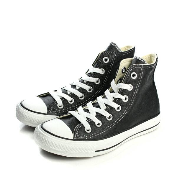 CONVERSE Chuck Taylor All Star Leather 皮革 舒適 基本款 戶外休閒鞋 黑 男女款 no059