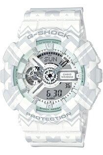 【錶飾精品】現貨CASIO卡西歐G-SHOCK波西米亞民俗風GA-110TP-7A白灰 全新原廠正品 情人生日禮品