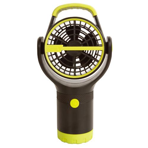 【露營趣】中和 附手電筒 Coleman CM-27313 BATTERYLOCK杯架風扇/萊姆綠 電風扇 小吊扇