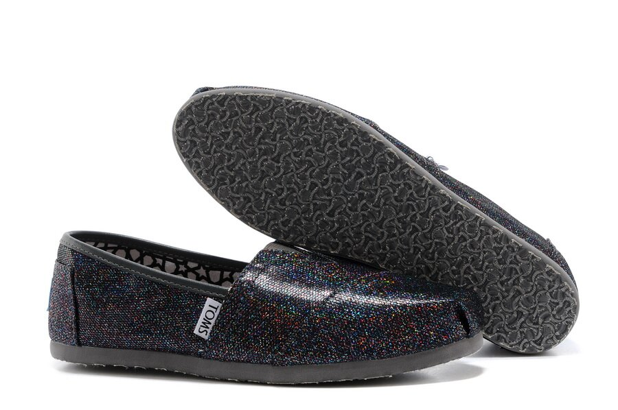 【TOMS】經典亮片款平底休閒鞋(七彩黑色)  Authentic Multi Glitter Women's Classics 4