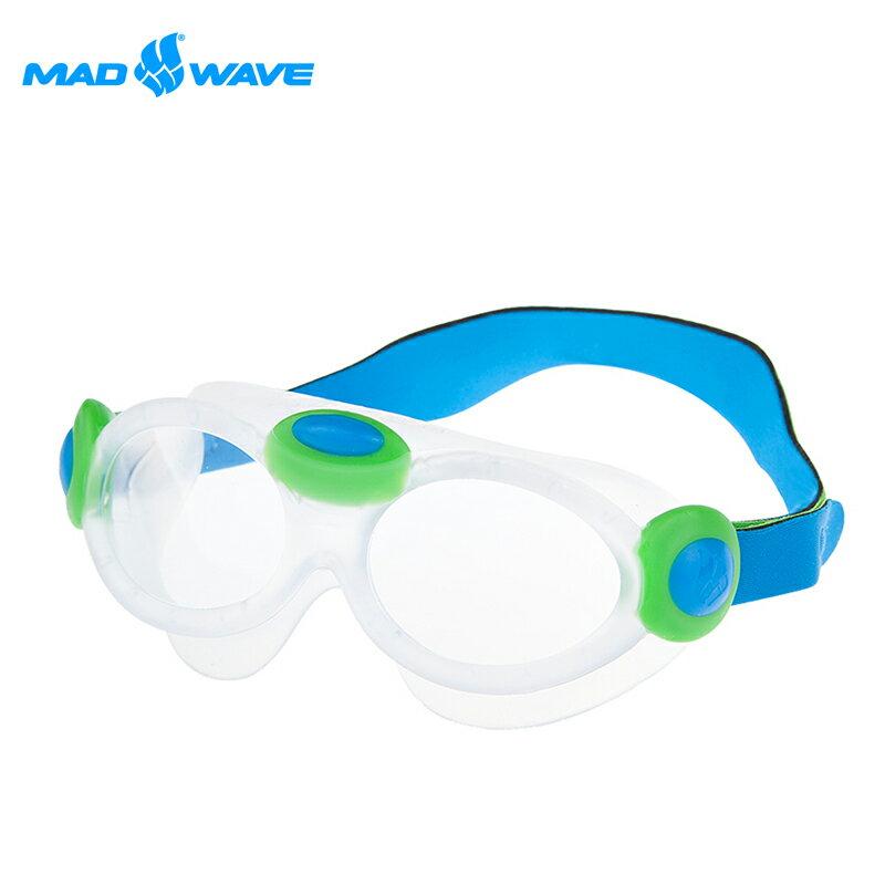 【俄羅斯水上運動大廠】MADWAVE兒童大鏡框舒適泳鏡 0
