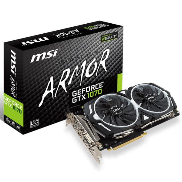 ★綠G能★微星GeForce GTX 1070 ARMOR 8G OC PCI-E顯示卡