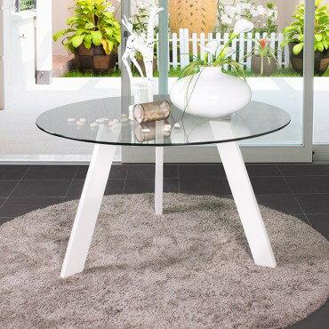 Comprar mesas de comedor redondas blancas compara - Mesa comedor redonda cristal ...