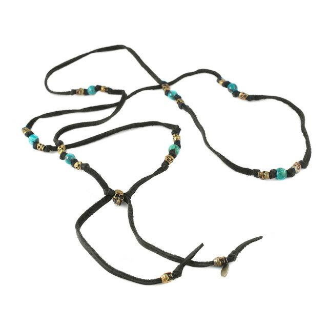 【現貨商品】【M.Cohen】多圈式骷髏綠松石皮革手環(MC-B-10102-B-Black  0631220004) 0