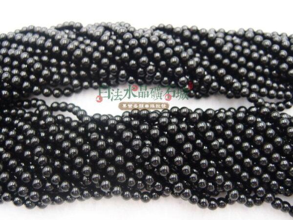 白法水晶礦石城 巴西 天然-黑碧璽 4mm 串珠/條珠   首飾材料