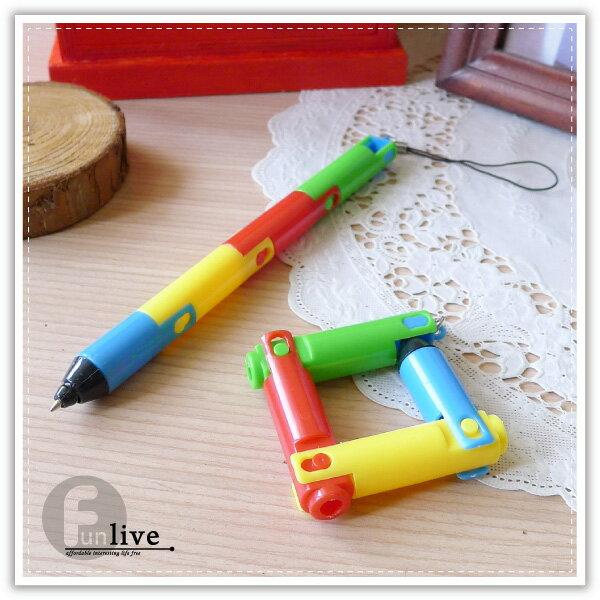 【aife life】折疊彎曲變形筆/吊飾筆/手機吊飾/趣味變形筆/原子筆/廣告筆/文具用品