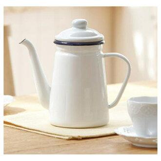 琺瑯咖啡壺 1.1L ENABE023WH
