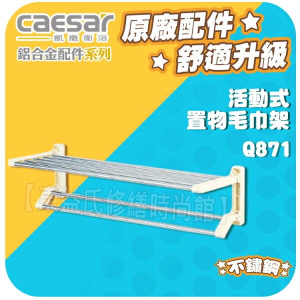 Caesar凱薩衛浴 活動式置物毛巾架 Q871鋁合金配件系列【東益氏】浴巾環 馬桶刷架 肥皂架 轉角架