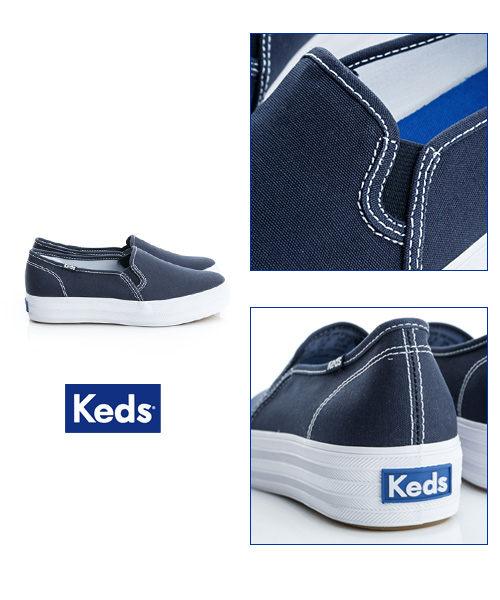 Keds 品牌經典厚底休閒便鞋(海軍藍) 4