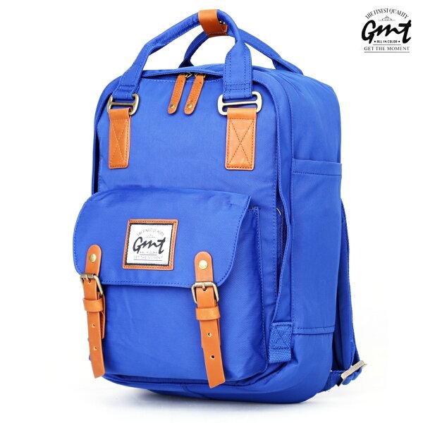 E&J【011013-03】免運費,GMT挪威潮流品牌 時尚休閒後背包 藍色 ;旅遊包/登山包/雙肩背包/文青/書包旅行