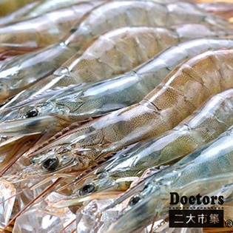 生態海水養殖活凍無毒白蝦*二大市集【Doctor嚴選-生態海水養殖活凍無毒白蝦】每份 300g