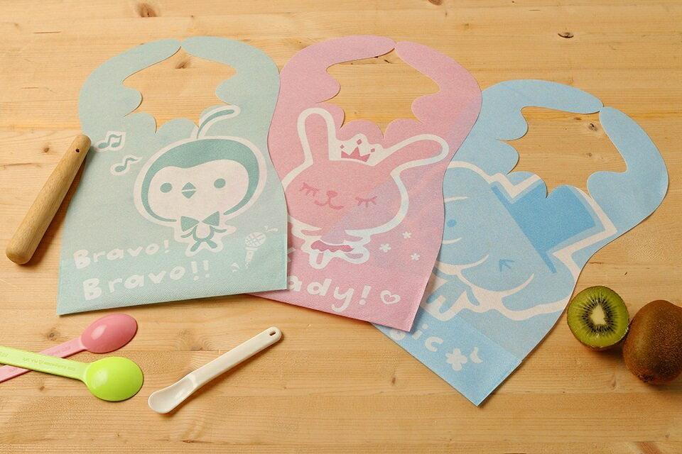 台灣【Lullmini】Floret 嬰幼童拋棄型圍兜6入(兔子) 3