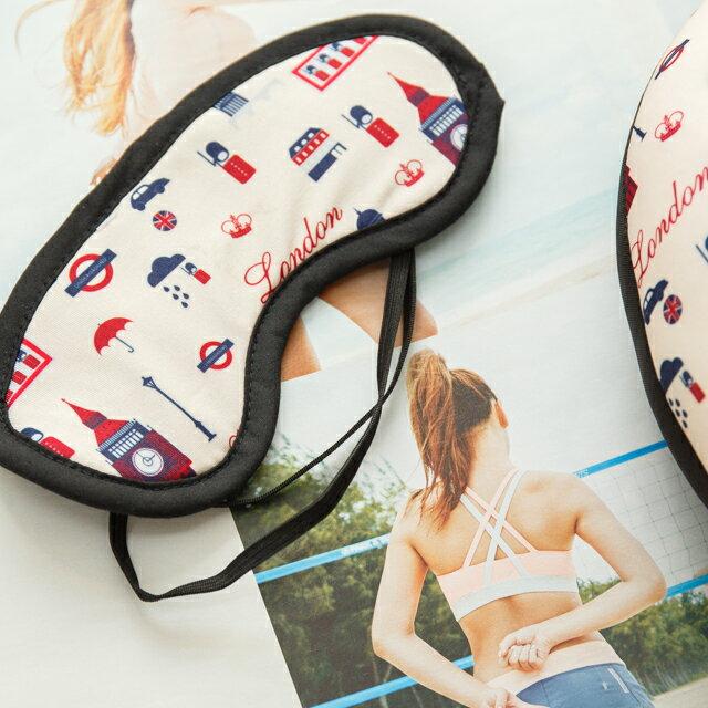 旅人眼罩+頸枕  紓壓/休息 便利實用   3色可選 8