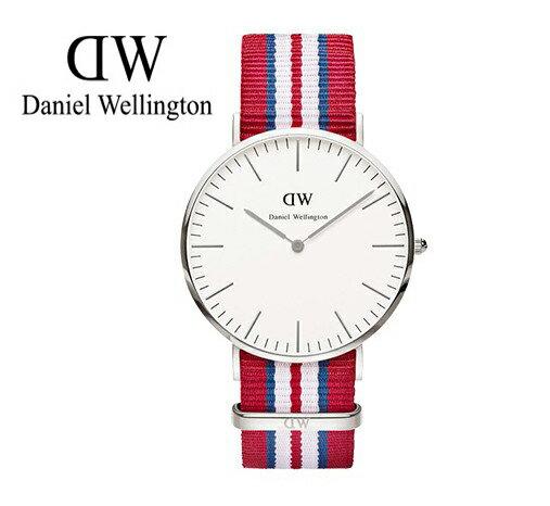 瑞典正品代購 Daniel Wellington 0212DW 銀 尼龍 帆布錶帶 男錶 手錶腕錶 40MM