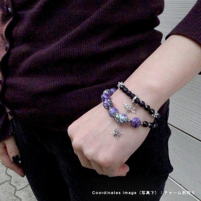 【海外訂購】【KONRON】Baby Skull 繽紛寶石骷髏珠珠手鍊(紫色陶瓷珠)(KRBCB1316-Cepemix  0640800000) 3