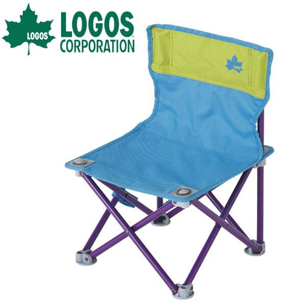 【露營趣】中和 附手電筒 LOGOS LG73170013 雙色野營椅 折疊椅 摺疊椅 休閒椅 露營椅 童軍椅