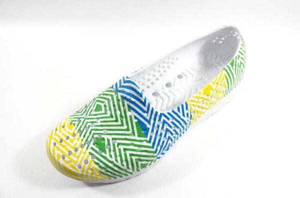 [陽光樂活]PONY ✨ GOGO鞋 雨鞋 防水透氣 水陸兩棲鞋 親子鞋(童)  - 62K1SA62YW (粉黃/藍)