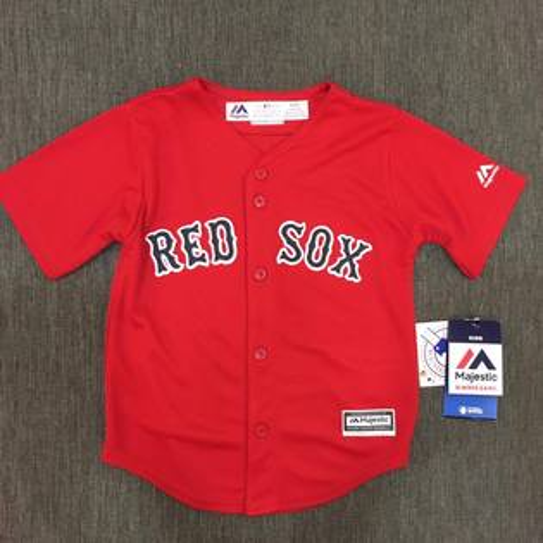 【蟹老闆】Majestic 孩童 棒球球衣 大聯盟 MLB 波士頓紅襪 Boston Red Sox 2T~4T
