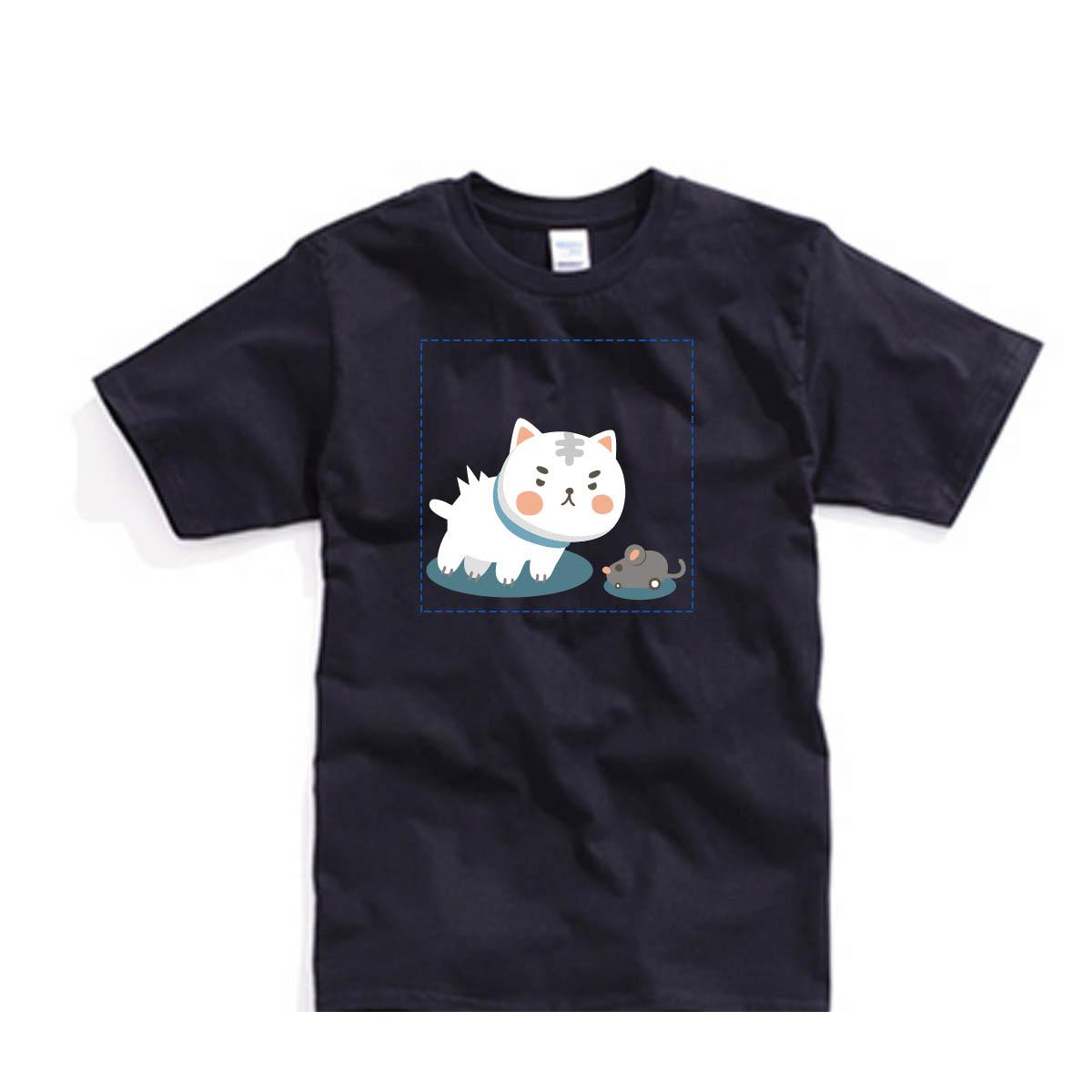 ✨ 喵星2系列✨自己的T恤自己做-色T!100%純棉台製棉T素材!一件也可以做!多件另有優惠!歡迎團體訂做!BSP喵星系001_喵與鼠_G - 限時優惠好康折扣