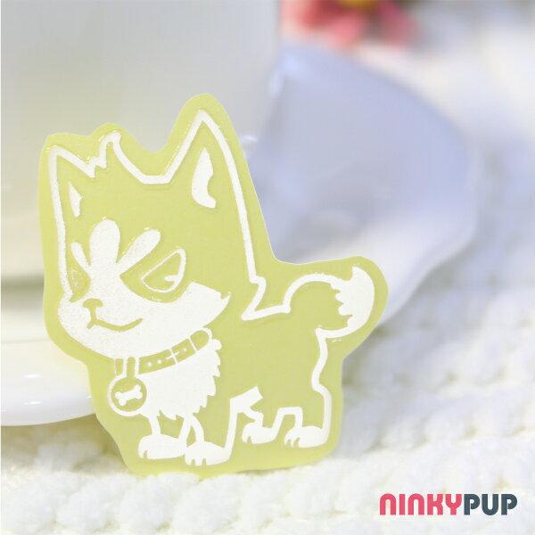 [寵物貼紙] 反光貼紙  萌犬哈士奇S 4.3*3.8cm