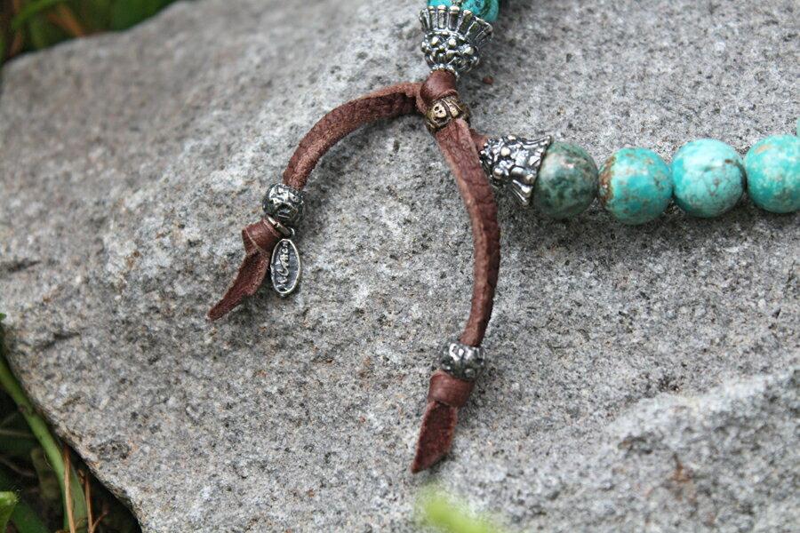 【現貨商品】【M.Cohen】土耳其綠松石酋長手環 (MC-B-10813 0710760000) 3