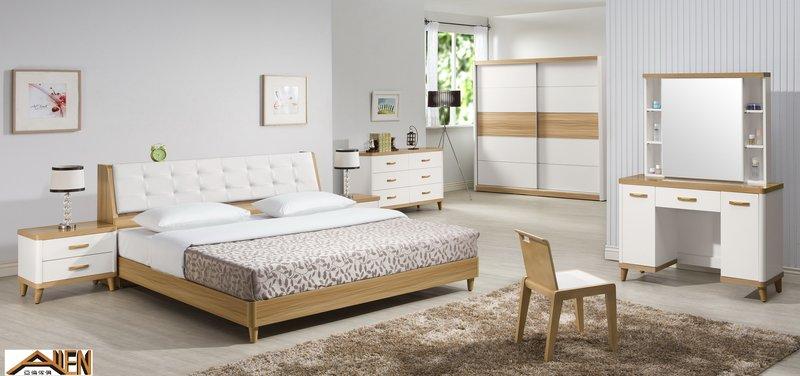 亞倫傢俱*安摩爾6尺雙人加大床架 (床頭箱款) 2