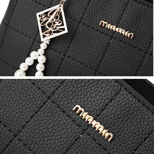 包包 - 立體方格壓線簡約設計三用背包【21552】 藍色巴黎《3色》現貨+預購 1