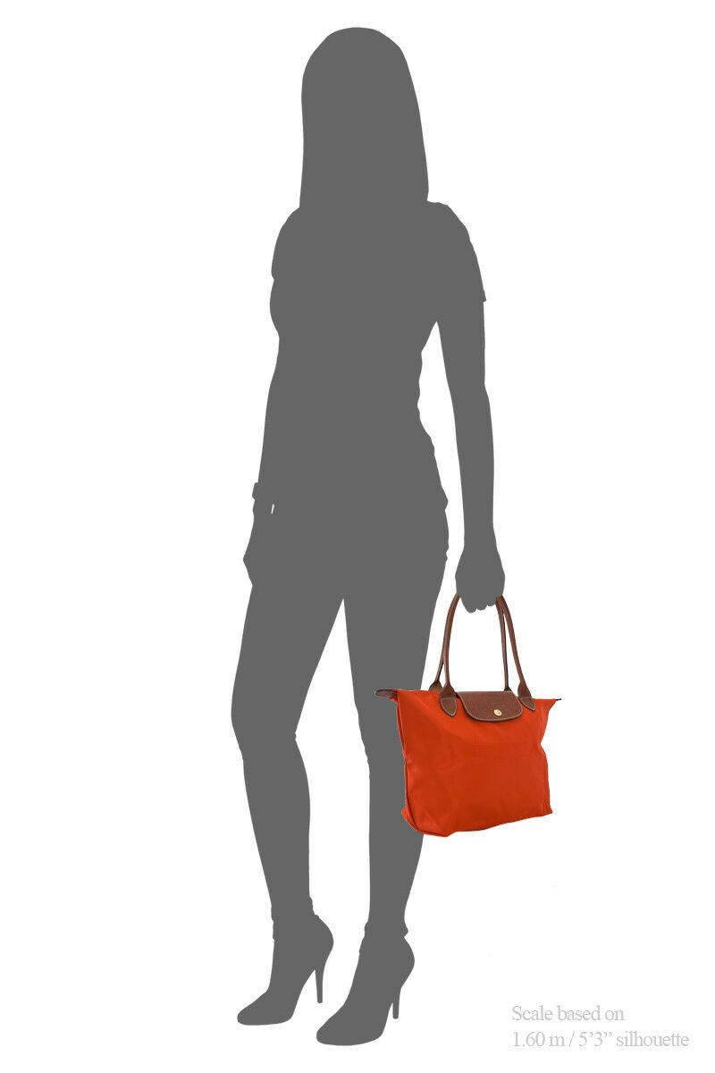 [2605-S號]國外Outlet代購正品 法國巴黎 Longchamp 長柄 購物袋防水尼龍手提肩背水餃包 辣椒紅 4