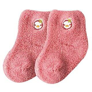 『121婦嬰用品館』PUKU 毛毛初生襪(0-12m) - 粉 0