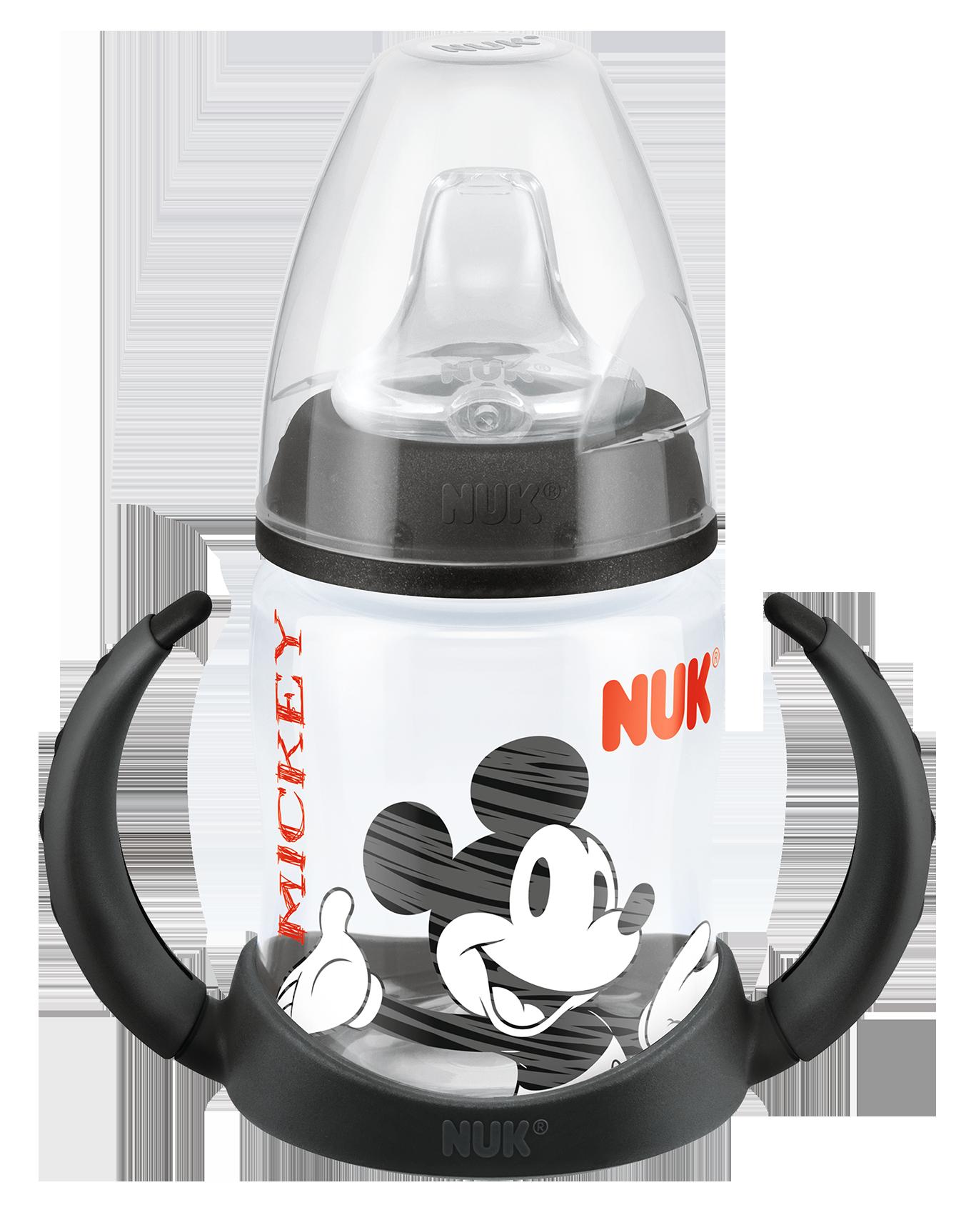 『121婦嬰用品館』NUK 米奇 寬口徑PP兩用學飲杯 150ml (附矽膠軟嘴) 0