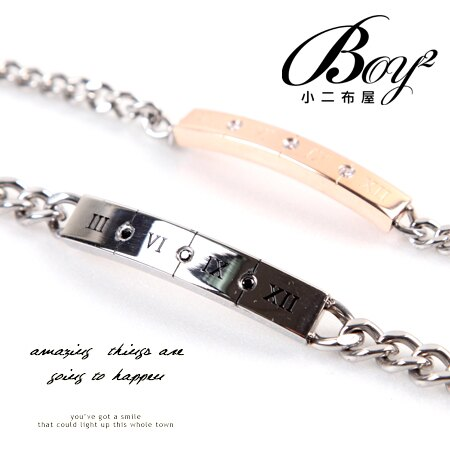 ☆BOY-2☆ 【NG081】羅馬數字 三鑽手鍊 0